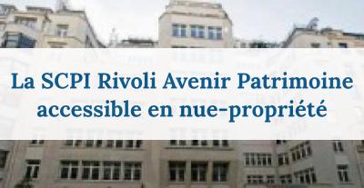 scpi en démembrement 2017 Rivoli Avenir Patrimoine en démembrement